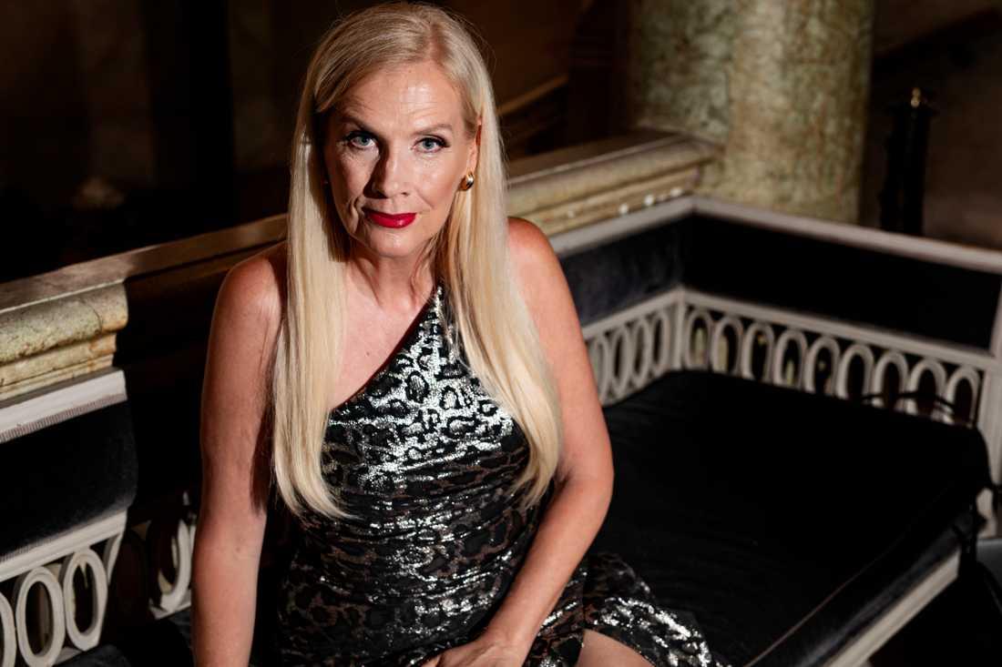 Hollywoodfrun Gunilla Persson.