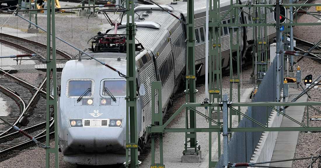 31-åringen greps på ett X2000-tåg.
