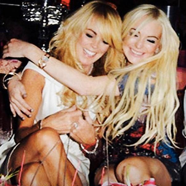 Dina och Lindsay Lohan.
