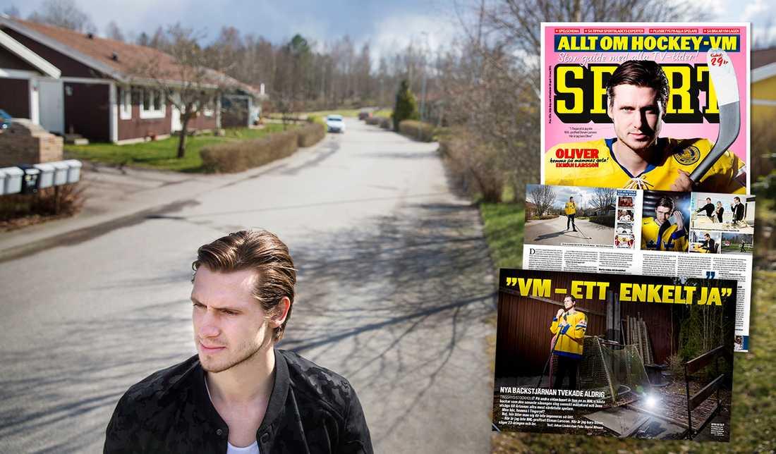 HEMMA IGEN Möt rekordmannen Oliver Ekman Larsson på mammas gata. ✓ Läs hela reportaget med stjärnbacken i VM-bibeln som släpps på torsdag.