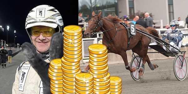 Magnus Jakobsson och Tindra Star är ett av lördagens miljondrag på V75.