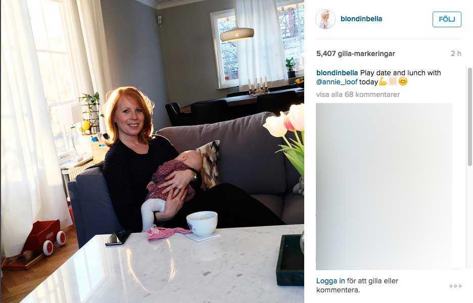 Från Blondinbellas Instagram.