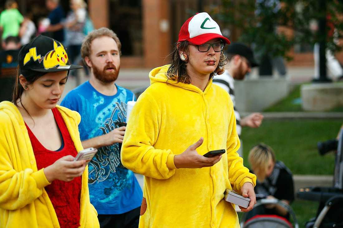 Pokémon Go-spelare i Springfield, USA.