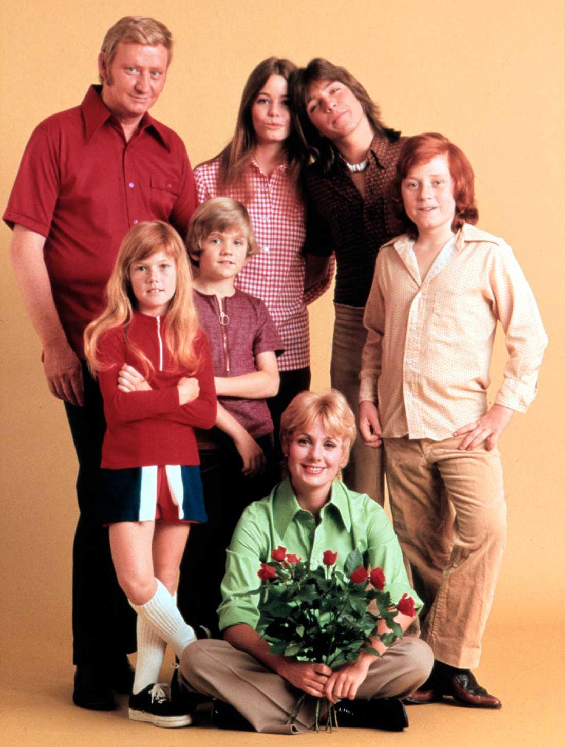 """""""The Partridge family"""", David Cassidy trea från vänster spelade rollen som Keith Partridge."""