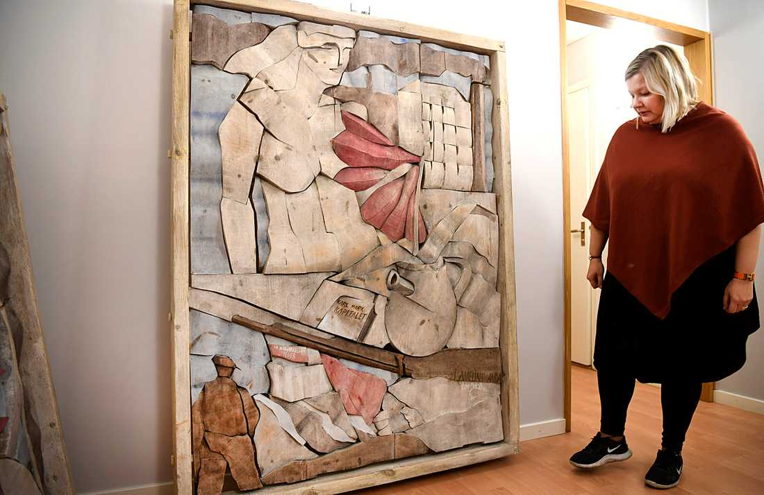 Här är konstverket som inte ansågs lämpligt i fullmäktigesalen i Järfälla.