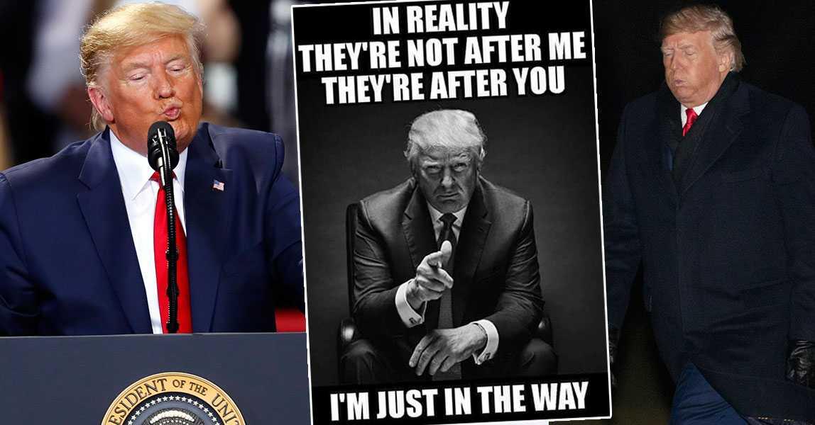 Trumps ilska: Till attack mot änkan