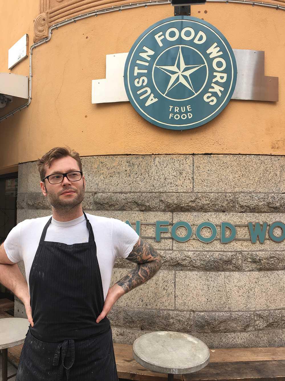 Austin Food Works kökschef Micke Söderberg
