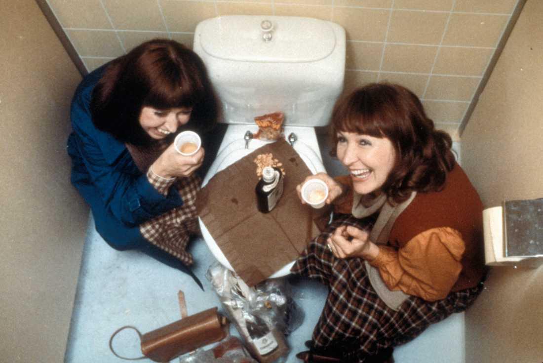 Lottie Ejebrant och Kim Anderzon,i Filmen Sällskapsresan.