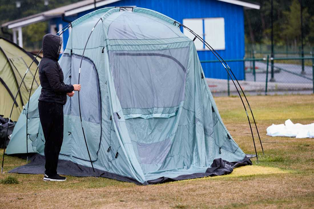 Den skadade mannen påträffades vid en campingplats, hans liv gick inte att rädda. Arkivbild. Campingen på bilden har inget med det inträffade att göra.