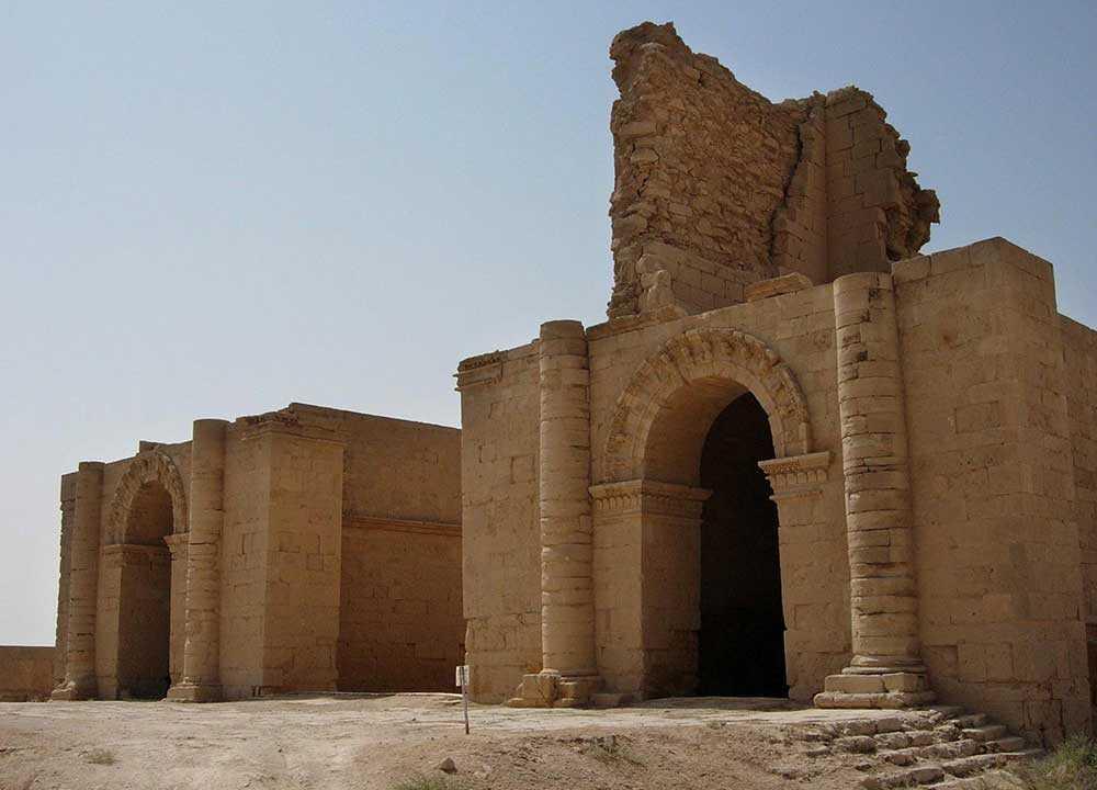 En tembelbyggnad i Hatra