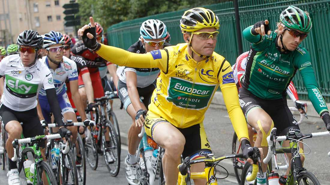 Thomas Voeckler leder Tour de France.