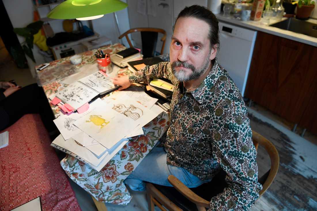Tecknaren Ola Schubert menar att han är en av de två upphovspersonerna till Babblarna-figurerna.