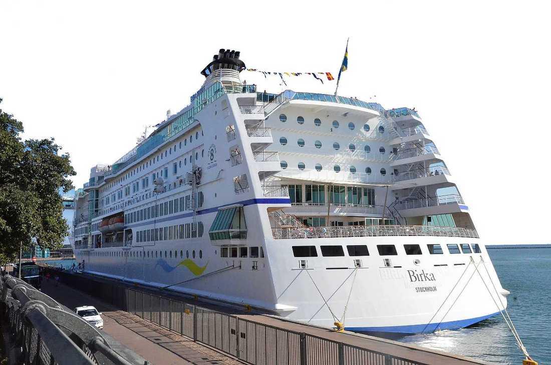 Fartyget Birka vid kaj i Köpenhamn.