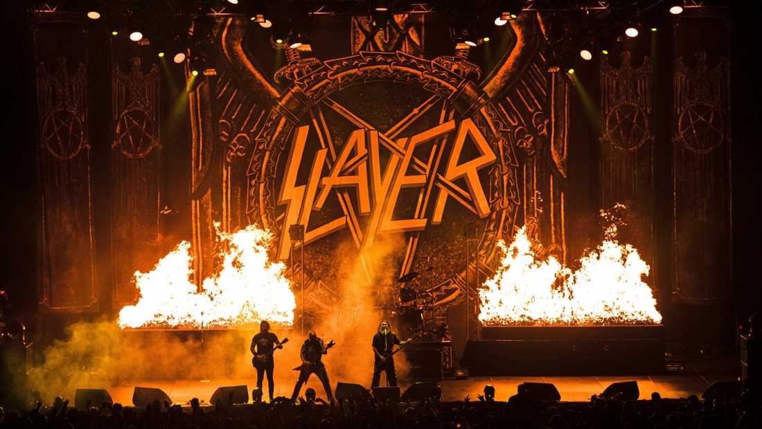 "Slayer fläskar på för fullt i konsertdelen av ""The repentless killogy""."