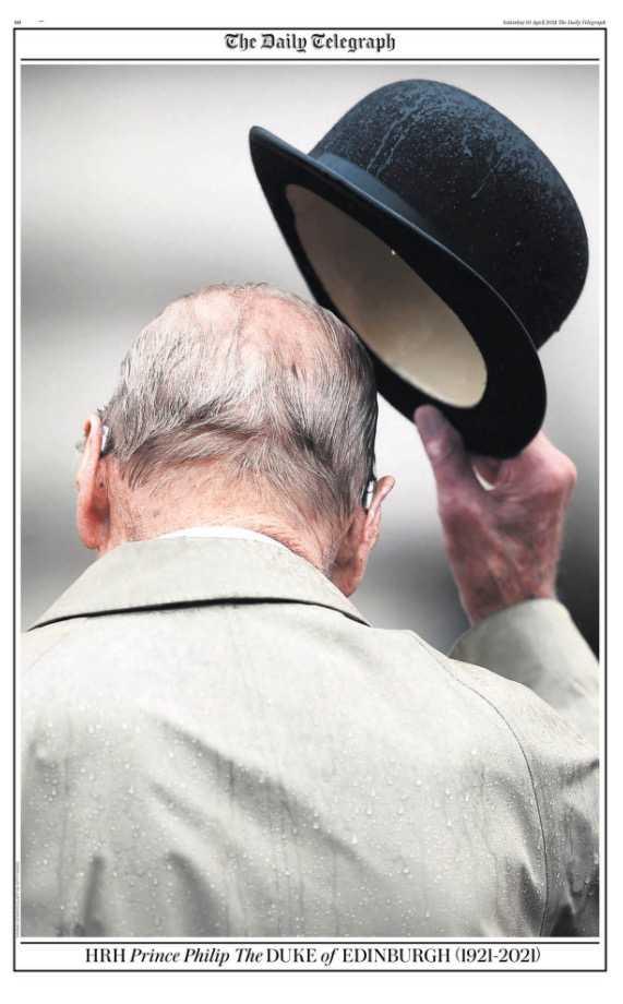 Daily Telegraphs sista sida.