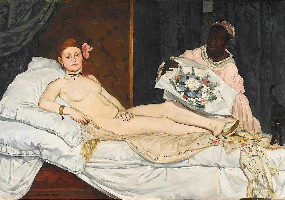 """Edouard Manet, """"Olympia"""", 1863."""