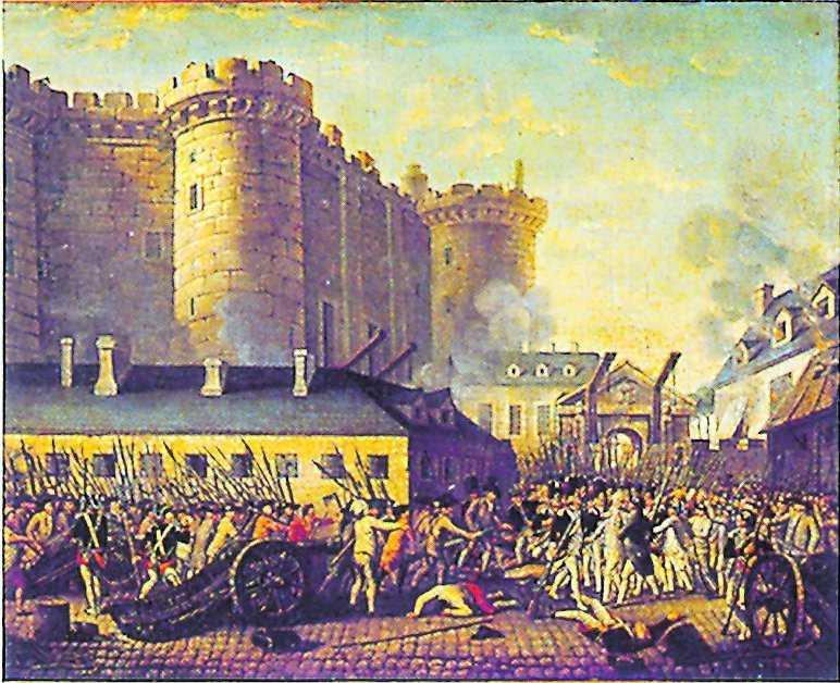 Paris den 14 juli 1989. Bastiljen stormas.