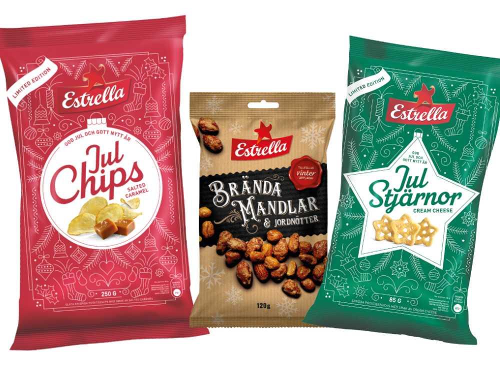 Nya chips och snacks.