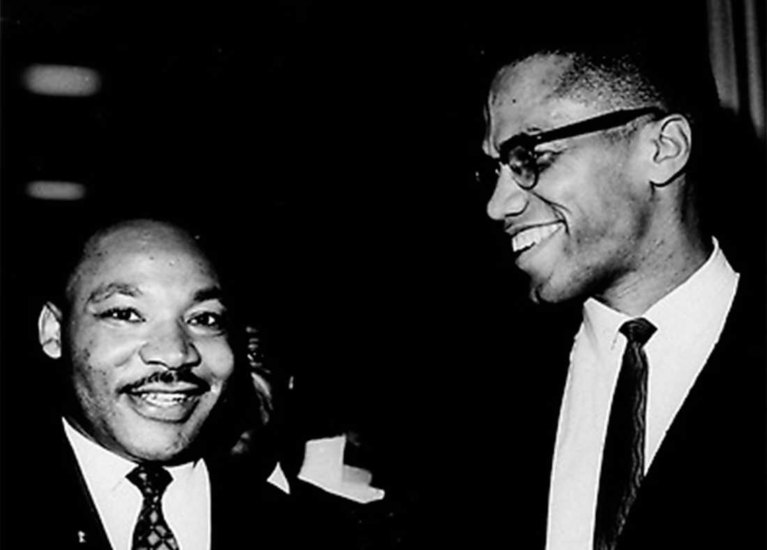 Malcolm X med Martin Luther King.
