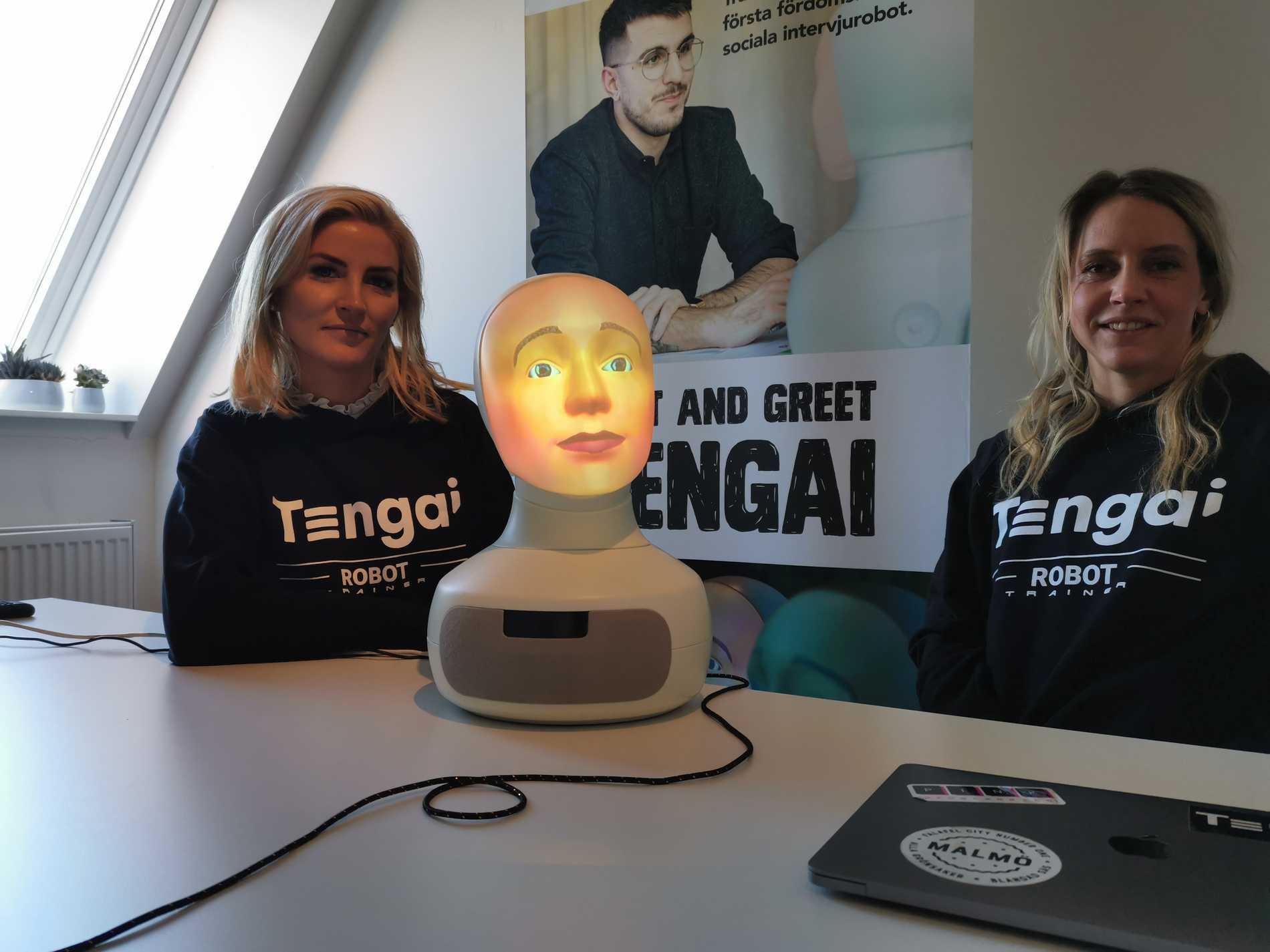 VD:n Elin Öberg Mårtenzon och IT-chefen Vanja Tufvesson från Tengai.