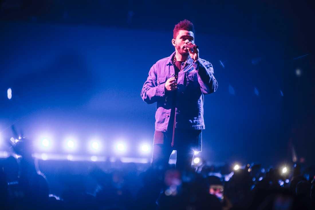 The Weeknd på scenen i Globen.