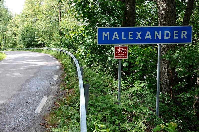 Det var i Malexander som de båda polismännen sköts till döds.