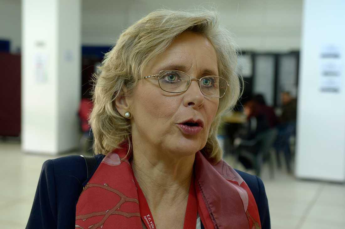 Svenska riksdagsledamoten Margareta Cederfelt (M) leder valobservatörerna.