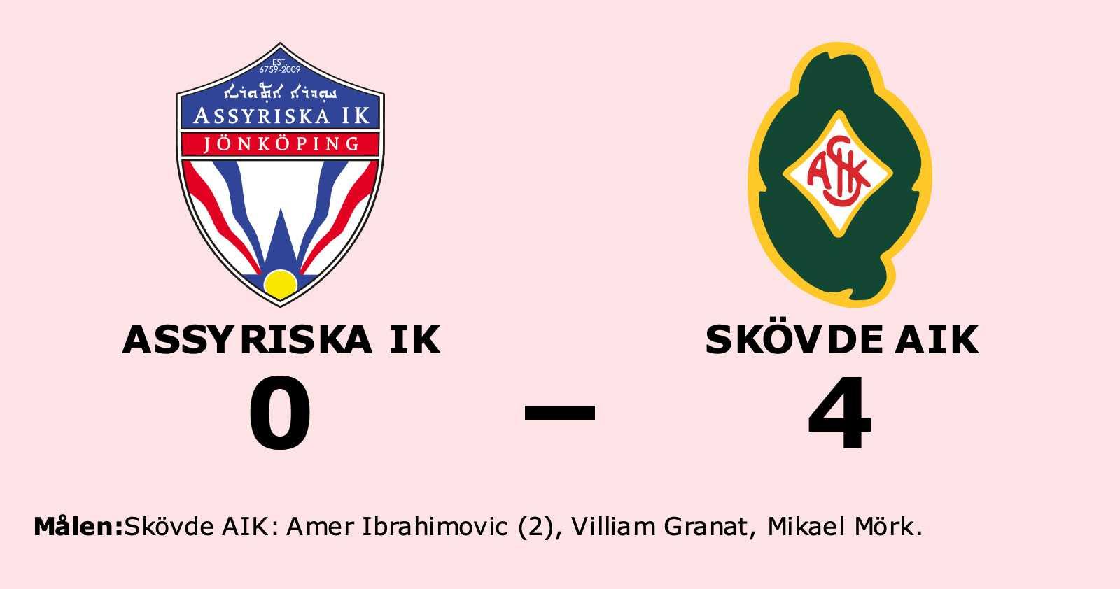 Amer Ibrahimovic i målform när Skövde AIK vann