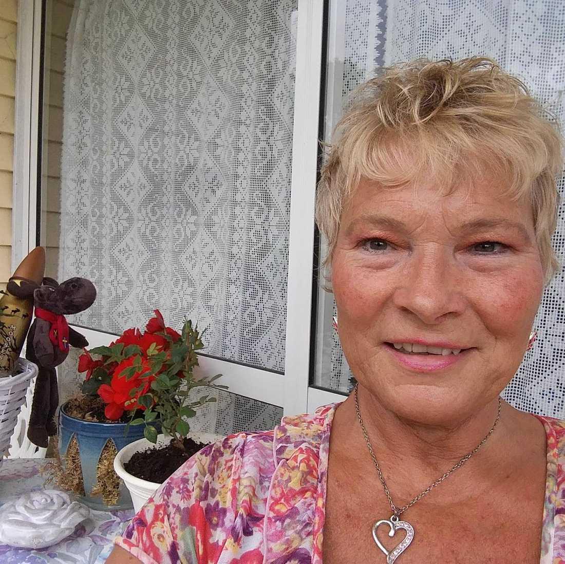 Berit Adolfsson, 57, från Kristinehamn.
