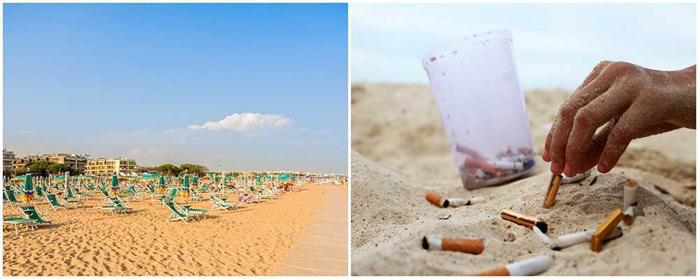 Nu införs rökförbud på den populära Bibione-stranden.