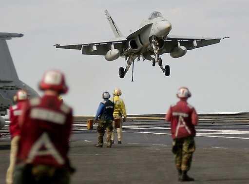 F 18 Hornet.