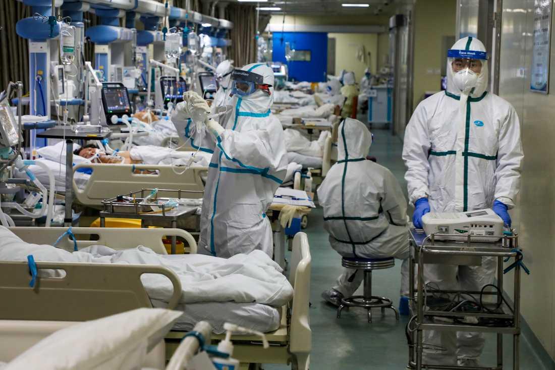 Sjukhus i Wuhan.