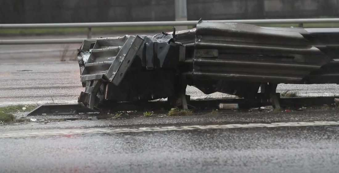 Olycksplatsen på E6 i närheten av Olskroken
