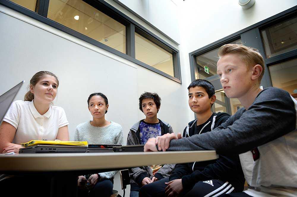 Selma Arifovic, 13, Olivia Lindström Okwesum, 13, Zean Ståhl Malbanan, 13, Aram Ali, 13, och Robert Andbjer, 13.