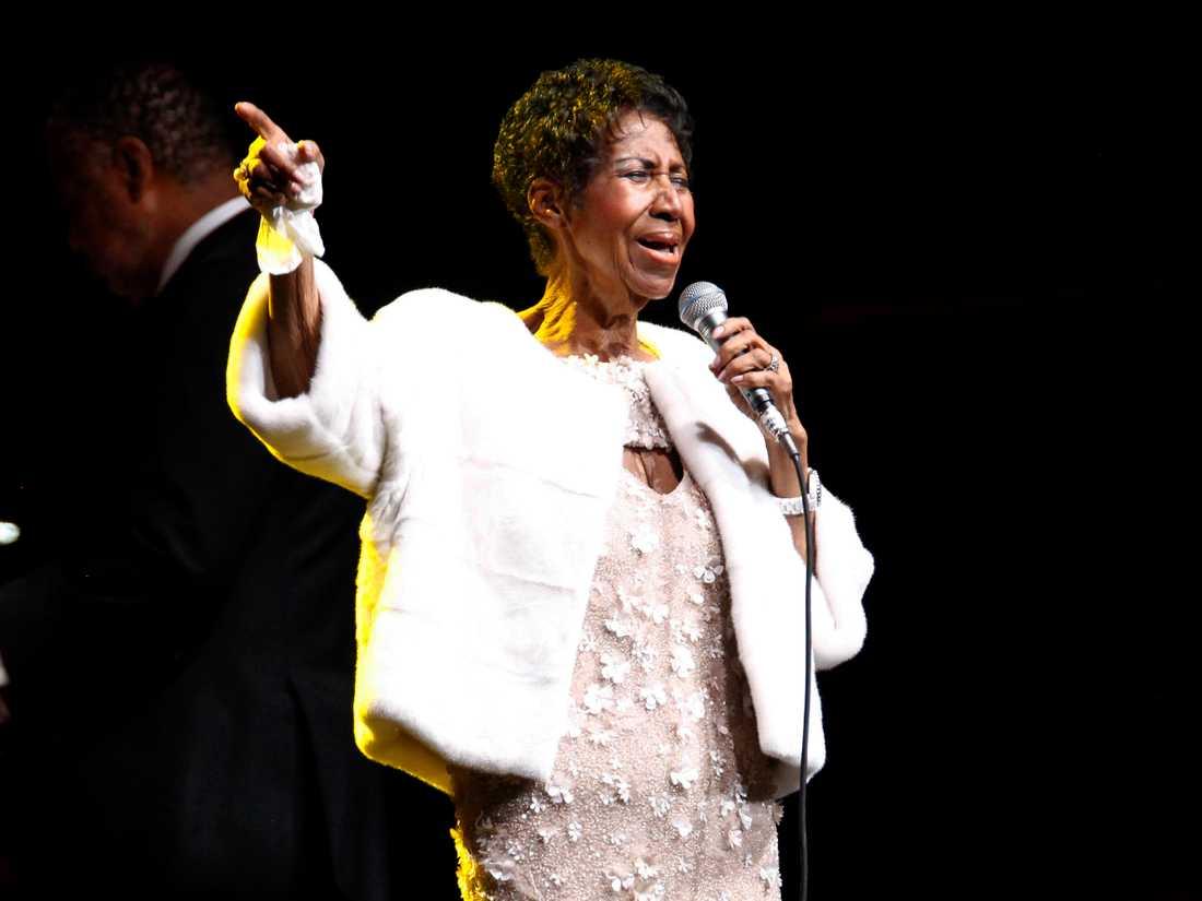 Aretha Franklins sista framträdande blev på en gala anordnad av The Elton John aids foundation i november förra året.