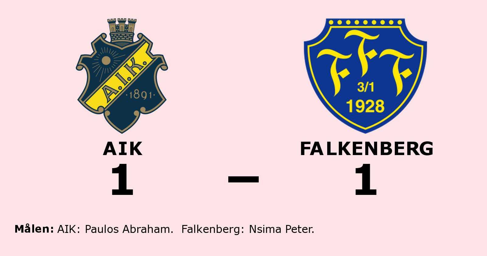 Delad pott för AIK och Falkenberg
