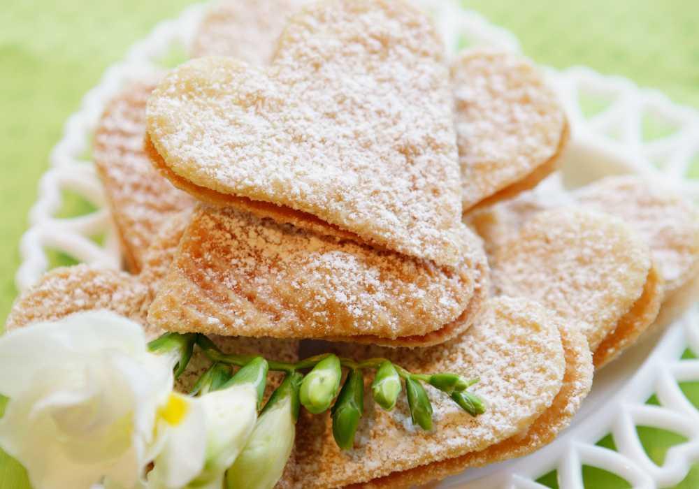 Vaniljhjärta med citronsmörkräm