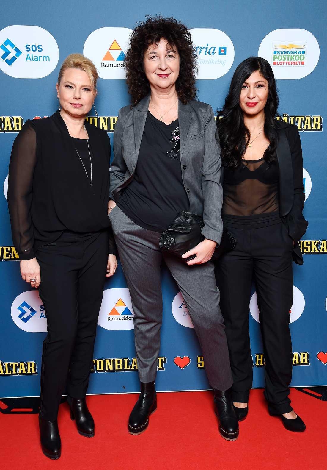 Helena Bergström, Denize Karabuda och Bahar Pars.