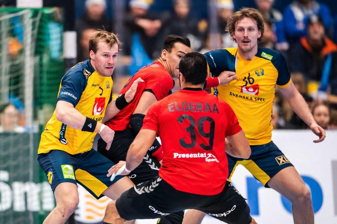 Sverige vann genrepet mot Egypten med 28–27