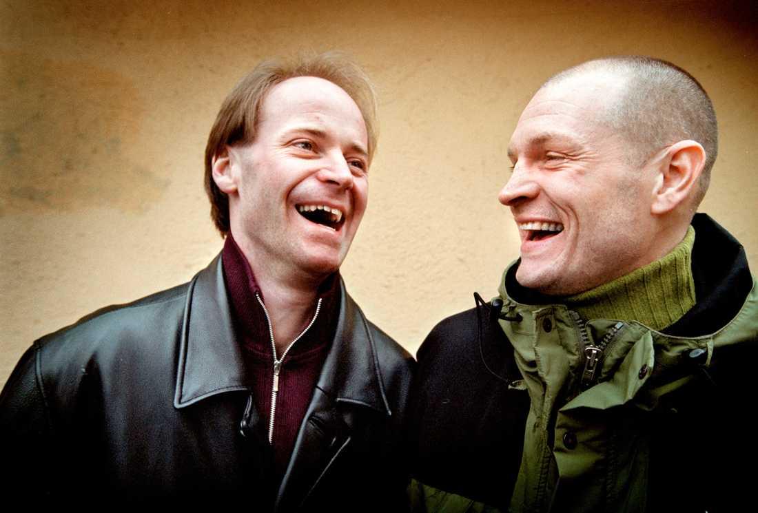 Jonas Claesson och Per Fosshaug 2001.