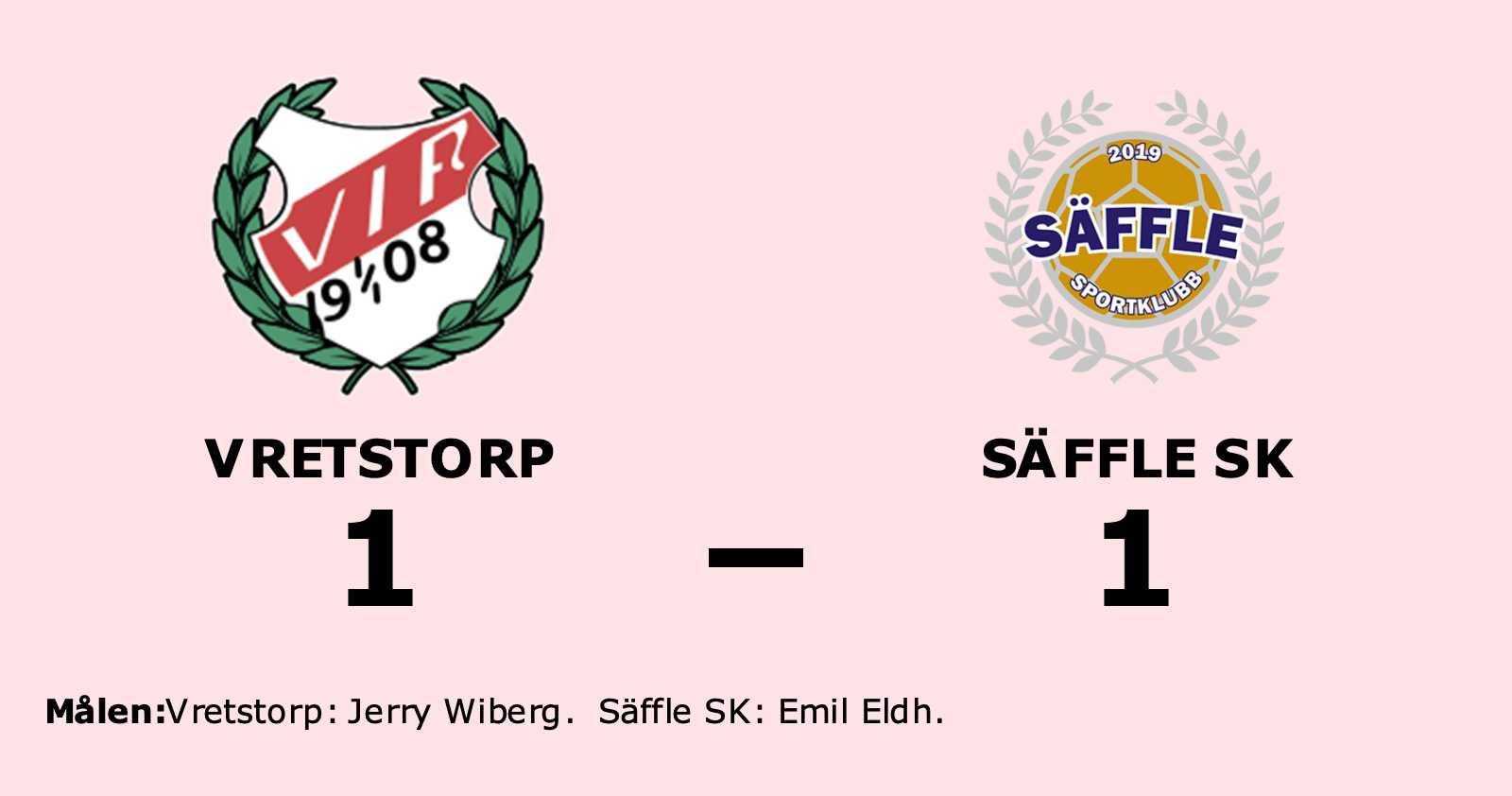Vretstorp och Säffle SK delade på poängen