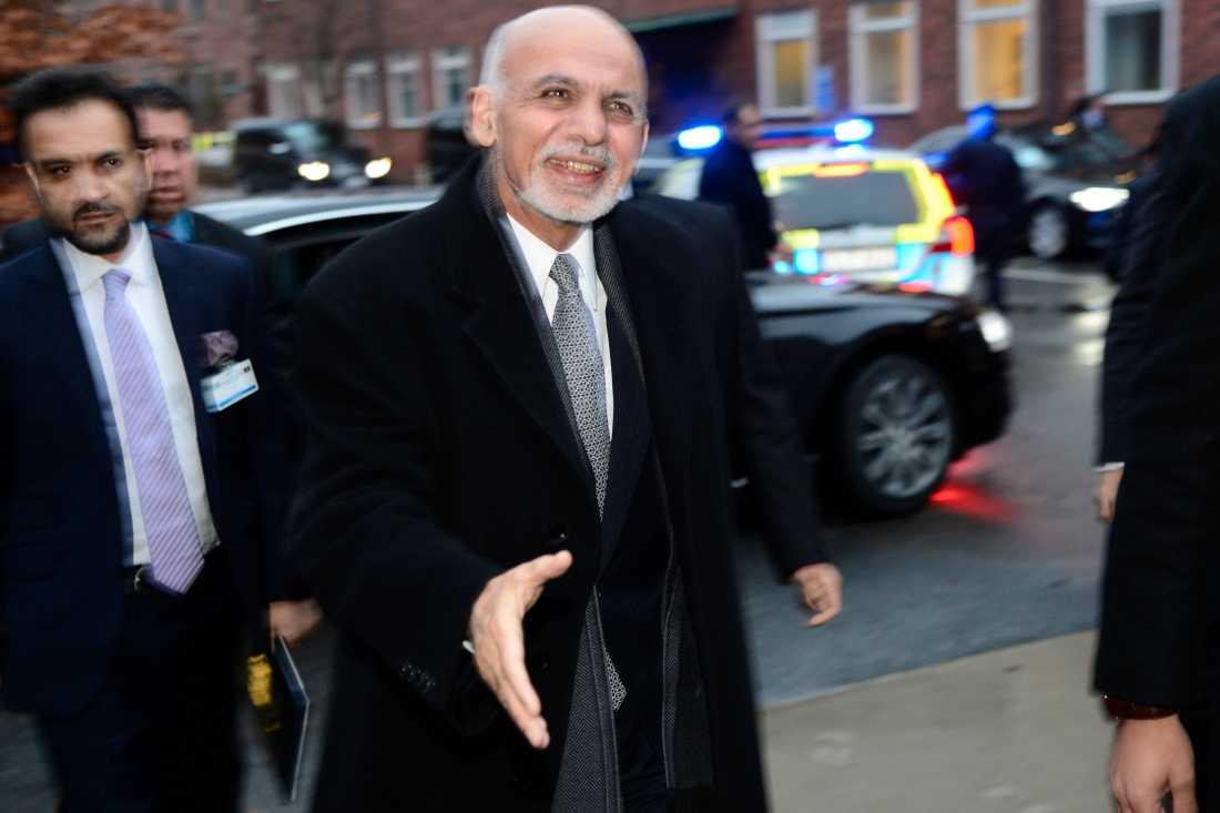 Afghanistans president Ashraf Ghani i Stockholm.