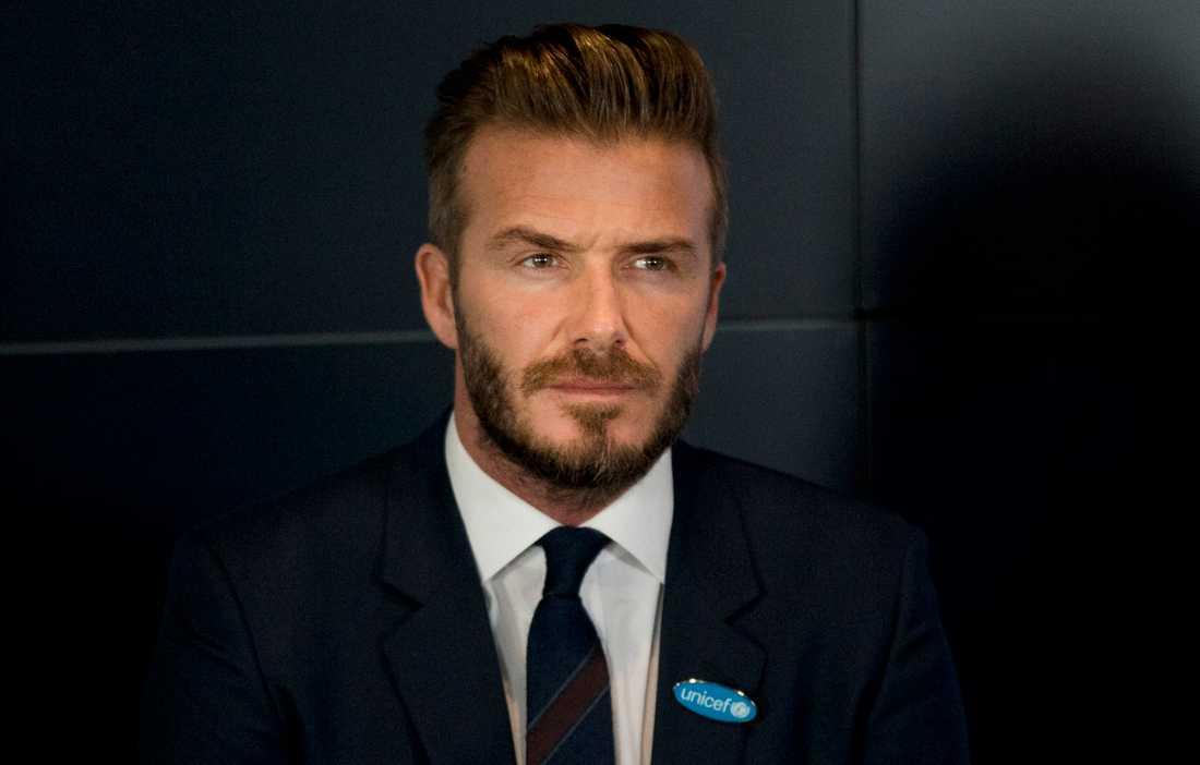 David Beckham, som vi är vana vid att se honom.