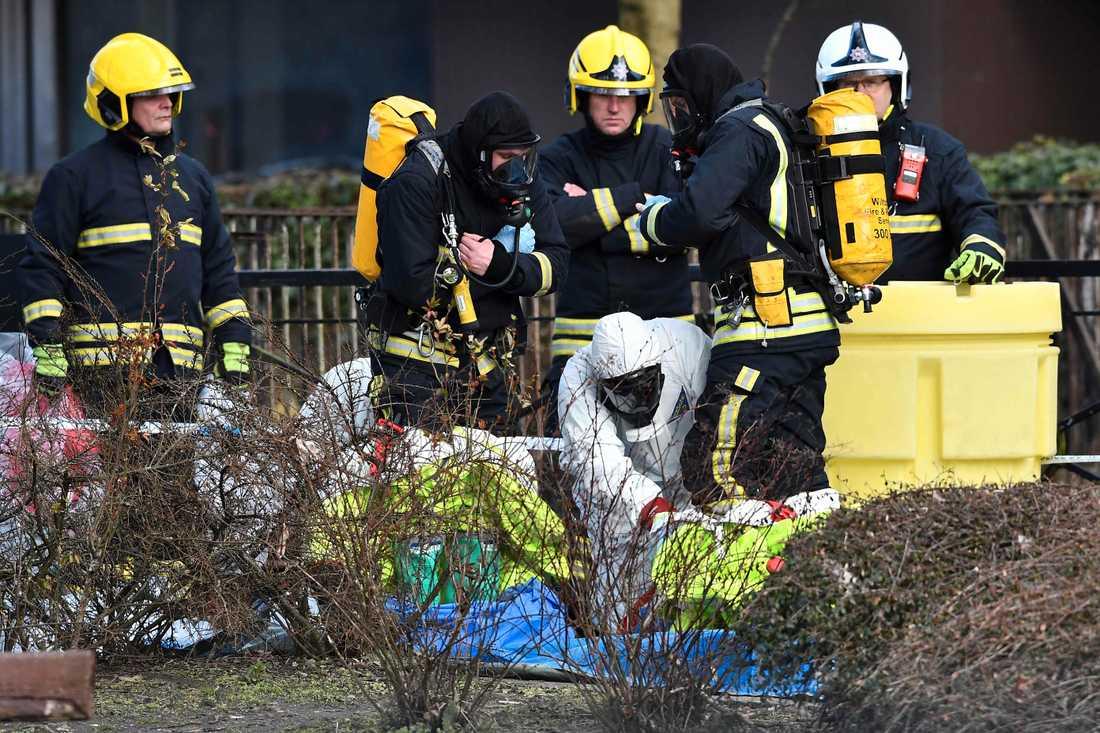 Även brandkåren är involverad i utredningen.