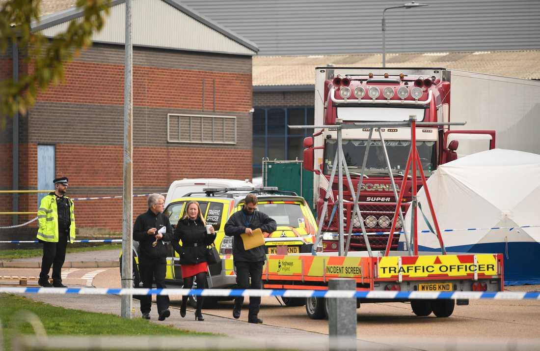 39 döda människor hittades i lastbilen.