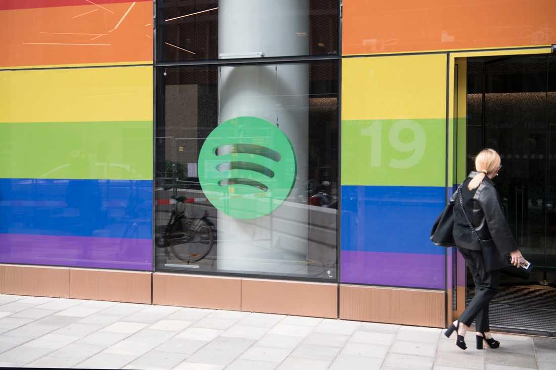 Spotify, noterat på New York-börsen, öppnade i fjol nytt huvudkontor i centrala Stockholm. Arkivbild