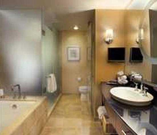 Ett av hotellets badrum.