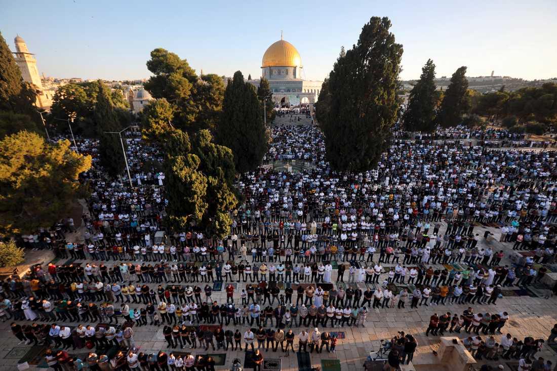 Islams tredje heligaste plats, al-Aqsamoskén i Jerusalem, är en av otaliga frågor som kan påverka hur framtiden i regionen blir efter avtalet mellan Israel och Förenade arabemiraten. Arkivbild.