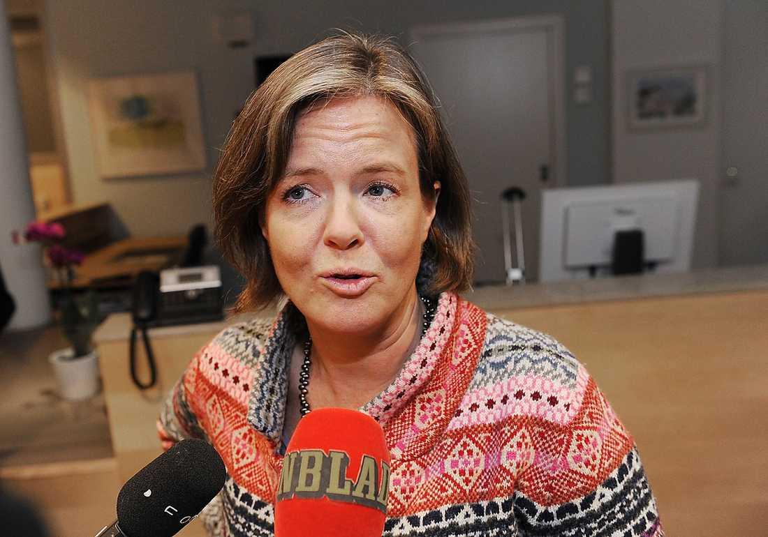 JA Carin Jämtin, partisekreterare.
