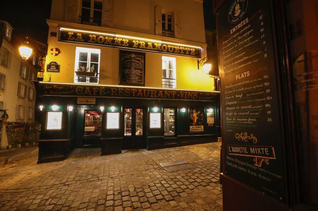 Restaurangerna i Frankrike är stängda. Ändå arrangeras det hemliga middagar. Arkivbild.